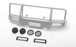 Trifecta Bumper w/ Round Lights for Capo Racing Samurai 1/6 RC Scale Crawler (Silver)