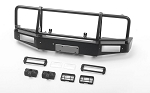 Trifecta Bumper w/ Square Lights for Capo Racing Samurai 1/6 RC Scale Crawler (Black)