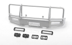 Trifecta Bumper w/ Square Lights for Capo Racing Samurai 1/6 RC Scale Crawler (Silver)