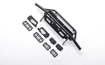 Guardian Tube Front Bumper w/ Square Lights for Capo Racing Samurai 1/6 RC Scale Crawler (Black)