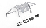 Guardian Steel Front Winch Bumper w/ Lights for Axial 1/10 SCX10 II UMG10 (Silver)