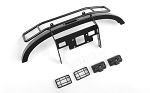 Ranch Steel Front Winch Bumper w/ Lights for Axial 1/10 SCX10 II UMG10 (Black)