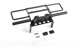 Oxer Steel Front Winch Bumper w/ IPF Lights for Vanquish VS4-10 Origin Body (Black)