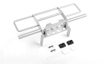 Oxer Steel Front Winch Bumper w/ IPF Lights for Vanquish VS4-10 Origin Body (Silver)
