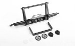 Shirya Front Winch Bumper w/ Lights for Vanquish VS4-10 Origin Body (Black)
