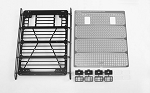 Command Roof Rack w/ Diamond Plate & 4x Square Lights for Traxxas TRX-4 Mercedes-Benz G-500 (Style A)
