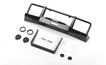 Oxer Metal Front Winch Bumper w/ Lights for JS Scale 1/10 Range Rover Classic Body