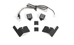 Pillar Lights w/ LED Light Kit for Axial 1/10 SCX10 III Jeep JLU Wrangler