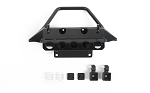 Rough Stuff Metal Front Bumper w/ Flood Lights for Axial 1/10 SCX10 III Jeep JLU Wrangler