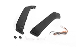 Fender Flare Set W/ Lights + LED Lighting System for Axial 1/10 SCX 10 III Jeep JLU Wrangler