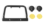 Steel Push Bar Front Bumper W/ Yellow Flood Lights for RC4WD Gelande II 2015 Land Rover Defender D90