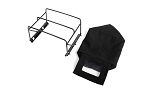 Steel Tube Bed Cage w/ Soft Top for RC4WD Gelande II 2015 Land Rover Defender D90 (Pick-Up) (Black)