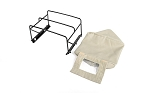 Steel Tube Bed Cage w/ Soft Top for RC4WD Gelande II 2015 Land Rover Defender D90 (Pick-Up) (Tan)