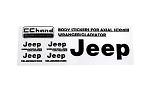 Metal Logo Decal Sheet for Axial 1/10 SCX10 III Jeep (Gladiator/Wrangler) (Black)
