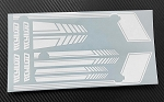 RC4WD Clean Stripes D90 Decal Sheet (White)
