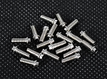 RC4WD Miniature Scale Hex Bolts (M3x8mm) (Silver)