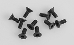 Steel Flat Head Socket Cap Screw M2 x 5mm (Black)