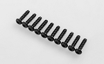 Button Head Self Tapping Screws M3 X 12mm (Black)