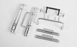 Complete Metal Accessory Set for Tamiya Hilux & Bruiser (Bumpers, Sliders, Rollbar) (Silver)