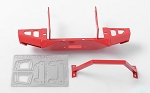 Metal Front Bumper for Axial SCX10 I & II (Red)