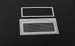Kahn Style Front Grille for D90/D110 Bodies (Silver)