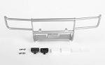 Ranch Front Grille Guard W/Lights for Tamiya 1/10 Isuzu Mu Type X CC-01 (Silver)