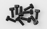 Socket Head Self Tapping Screws M2 X 6mm (Black)