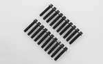 RC4WD Miniature Scale Hex Bolts (M2.5 x 12mm) (Black)