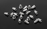 M1.6 Flanged Acorn Nuts (Silver)