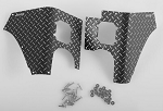 Rear Diamond Plates Corner Set for Tamiya CC01 Wrangler (Black)