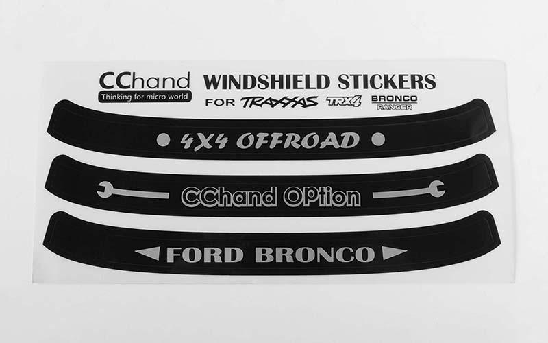 Windshield Decals For Traxxas Trx 4 79 Bronco Ranger Xlt