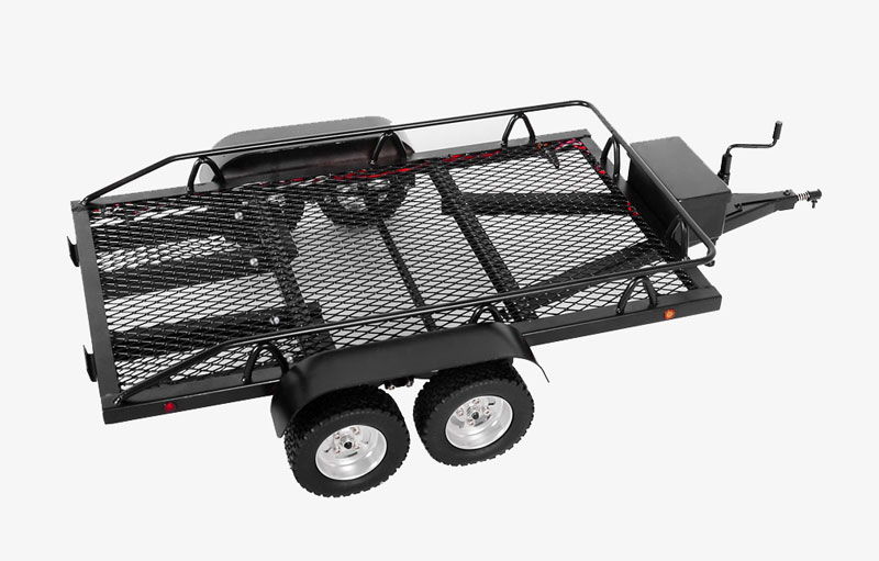 Trailers And Hitches >> Bigdog 1 10 Dual Axle Scale Car Truck Trailer