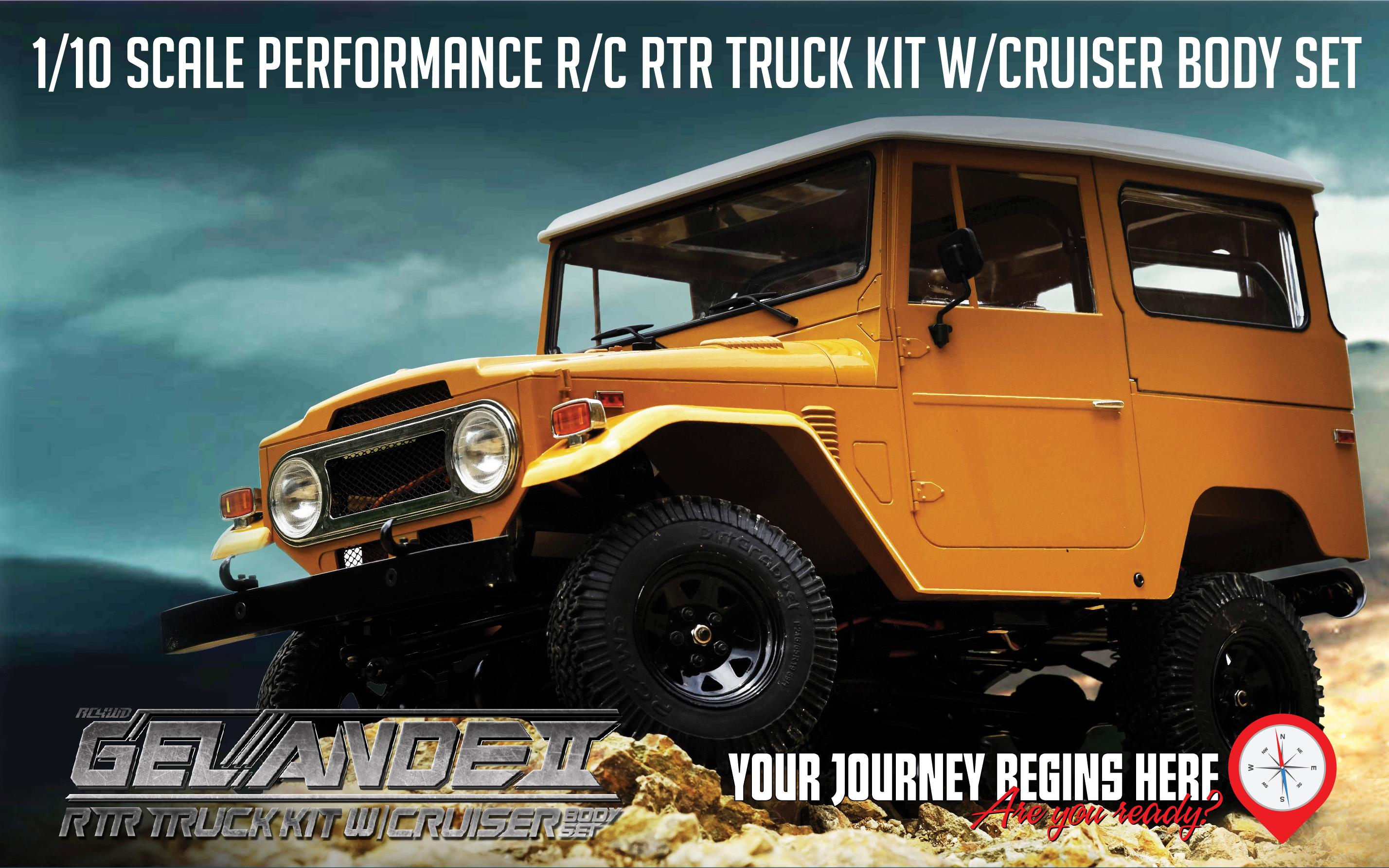 RC4WD Gelande II RTR Truck Kit w/Cruiser Body Set
