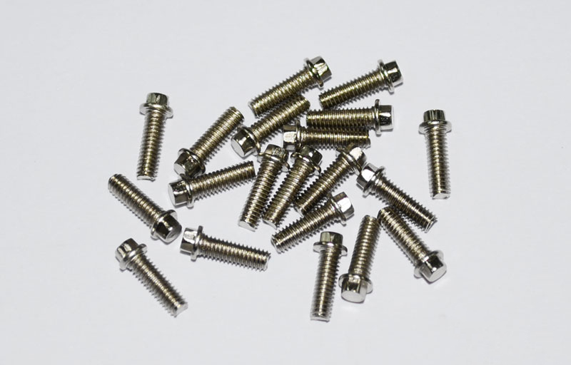 RC4WD Miniature Scale Hex Bolts (M2 5 x 8mm) (Silver)