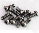 Titanium Hex Socket Screws M3x8mm (10)