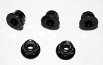 M4 Flanged Lock Nut (Black)