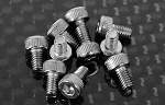 Socket Head Cap Screws M2.5 x 4mm (10) (Silver)