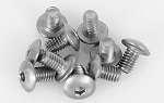 Titanium Button Head Cap Screws M2.5 x 4mm (10)
