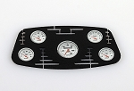 1/10 Black Instrument Panel with Instrument Decal Sheet (Style B)