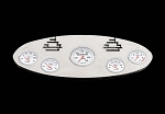 1/10 Chrome Instrument Panel with Instrument Decal Sheet (Style C)