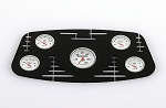 1/8 Black Instrument Panel with Instrument Decal Sheet (Style B)