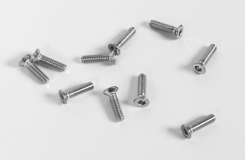Flat Head Socket Cap Screw M2 X 8mm 10