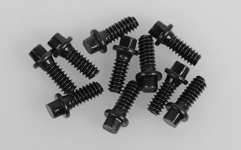 RC4WD Miniature Scale Hex Bolts (M1 6 x 4mm) (Black)