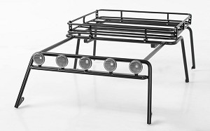 Metal Roof Rack for Axial SCX10 Wrangler w/ Roof Rack Lights