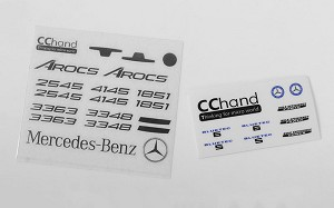 Emblems Set for Mercedes-Benz Arocs 3348 6x4 Tipper Truck