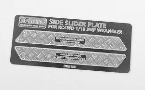 Metal Side Diamond Plates for 1/18 Gelande II RTR w/Black Rock Body