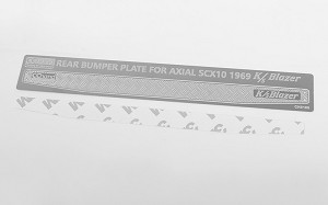 Rear Bumper Diamond Plates for Axial SCX10 II 1969 Chevrolet Blazer