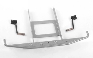 Rough Stuff Metal Rear Bumper w/Exhaust Tips for Axial SCX10 II 1969 Chevrolet Blazer (Silver)