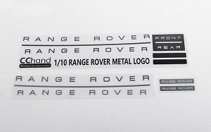 Metal Emblem Set for JS Scale 1/10 Range Rover Classic Body