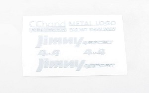 Metal Emblems for MST 1/10 CMX w/ Jimny J3 Body (White)